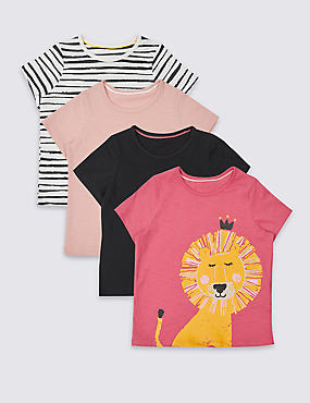 4 Pack Pure Cotton Tops with StayNEW™ (3 Months - 5 Years)