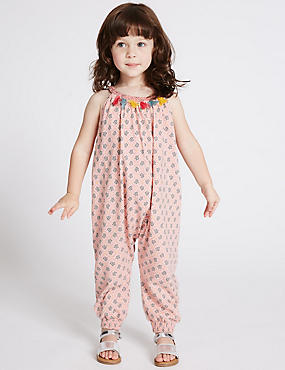 Pure Cotton Tassel Jumpsuit (3 Months - 5 Years)