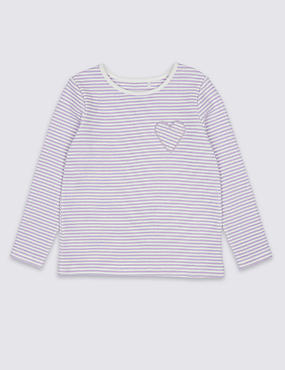Cotton Rich Striped Top (3 Months - 7 Years)