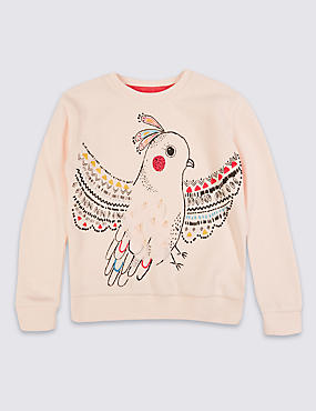 Bird Print Sweatshirt (3 Months - 5 Years)