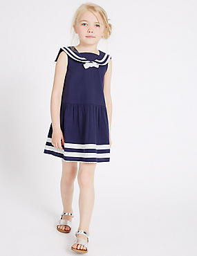 Pure Cotton Woven Dress (3 Months - 5 Years)