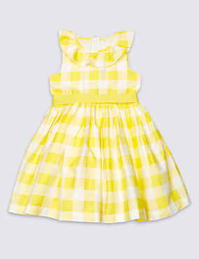 Pure Cotton Checked Prom Dress (3 Months - 5 Years)