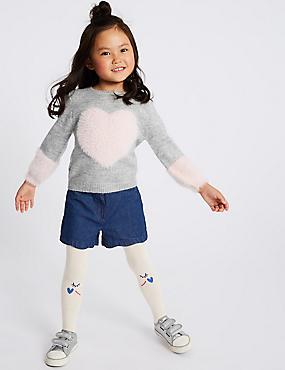 2 Piece Shorts & Tights Outfit (3 Months - 7 Years), DARK DENIM, catlanding