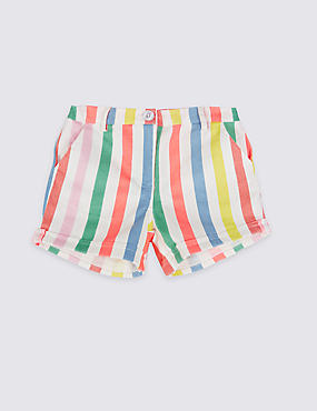 Cotton Rich Striped Shorts (3 Months - 5 Years)