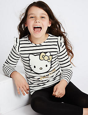 Pure Cotton Hello Kitty Jersey Top (1-7 Years)