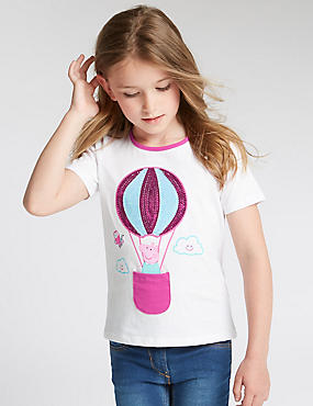 Pure Cotton Peppa Pig™ Hot Air Balloon T-Shirt (1-7 Years)