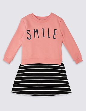 2 Piece Cotton Rich Sweatshirt & Dress