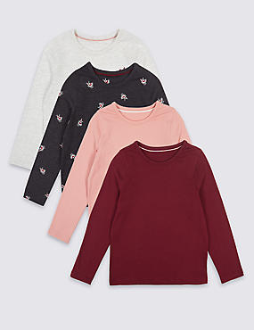4 Pack Long Sleeve Tops (3 Months - 6 Years)