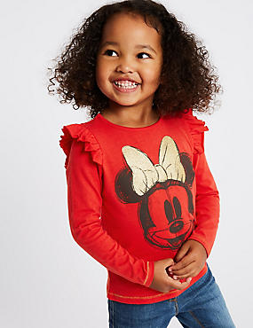 Minnie Mouse™ Top (3 Months - 7 Years), RED, catlanding