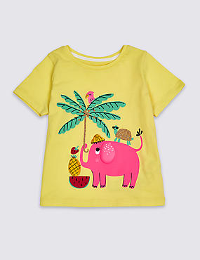 Pure Cotton Top (3 Months - 7 Years), YELLOW MIX, catlanding
