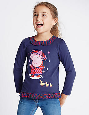 Pure Cotton Peppa Pig™ Jersey Top (1-7 Years)