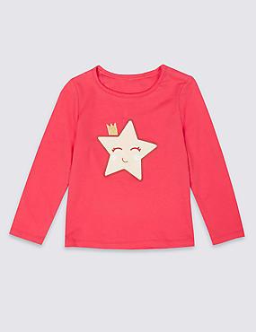 Easy Dressing Star Top (3 Months - 7 Years), LIPSTICK, catlanding