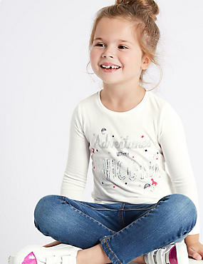 Pure Cotton Unicorn Top (3 Months - 6 Years)