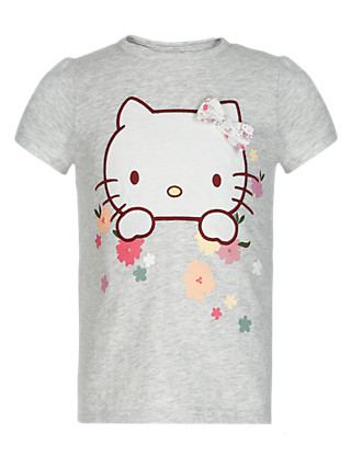 Hello Kitty Pure Cotton Heritage Girls T-Shirt (1-7 Years) Clothing