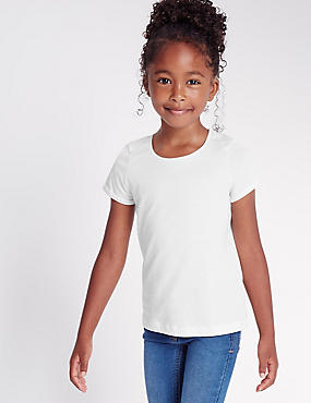 Pure Cotton Short Sleeve T-Shirt with StayNEW™ (2-5 Years)
