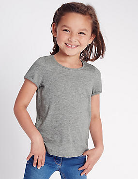 Pure Cotton Short Sleeve Top with StayNEW™ (2-5 Years)