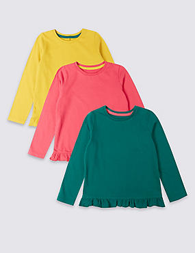 3 Pack Frill Hem Tops (3 Months - 7 Years)