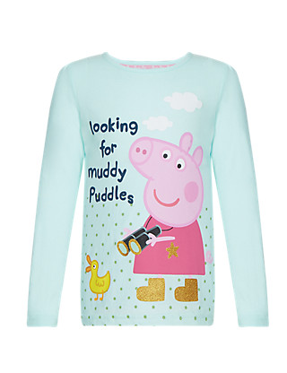 Pure Cotton Peppa Pig™ Girls T-Shirt (1-7 Years) Clothing