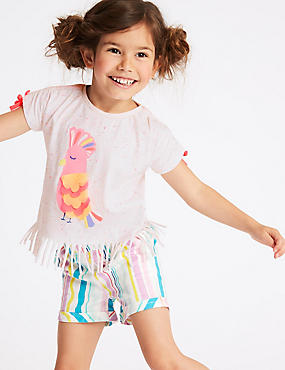 Cotton Rich Fringe Hem Top (3 Months - 7 Years)