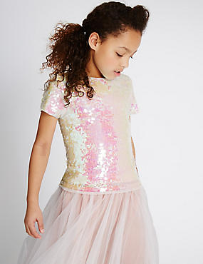 Short Sleeve Top with StayNEW™ (4-14 Years)