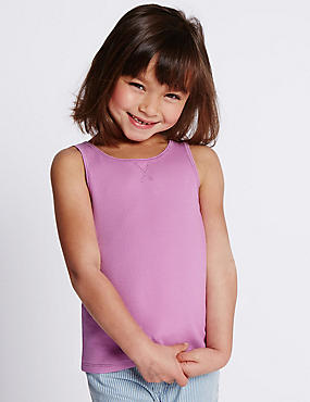 Cotton Rich Vest Top with StayNEW™ (1-7 Years)