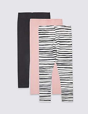3 Pack Cotton Rich Leggings (3 Months - 5 Years)