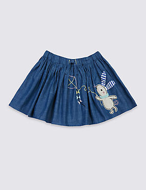Pure Cotton Denim Skirt (3 Months - 5 Years)