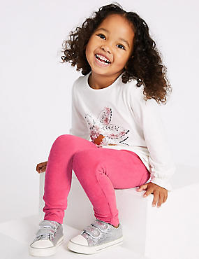Soft Cord Jeggings with Stretch (3 Months - 7 Years), BRIGHT PINK, catlanding