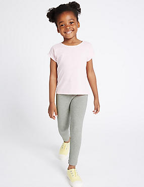 Cotton Rich Essential Leggings with StayNEW™ (2-5 Years)