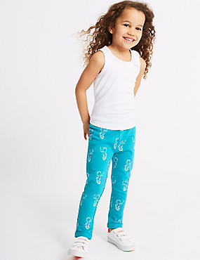 Seahorse Print Joggers (3 Months - 7 Years), TURQUOISE, catlanding