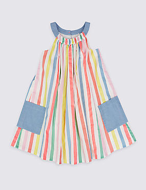 Pure Cotton Striped Dress (3 Months - 5 Years)
