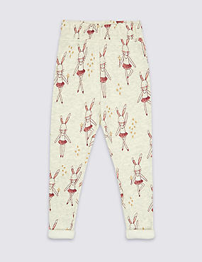 Cotton Rich Printed Joggers (3 Months - 6 Years)