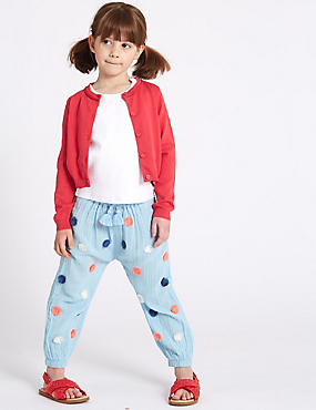 Pure Cotton Pom-pom Trousers (3 Months - 7 Years)