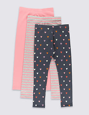 3 Pack Cotton Rich Leggings with StayNEW™ (1-7 Years)