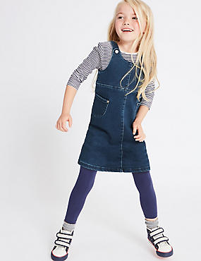Supersoft  Pinny Dress (3 Months - 5 Years), DENIM, catlanding