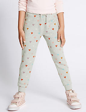 Cotton Rich Heart Joggers with StayNEW™ (1-7 Years)
