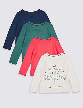 4 Pack Pure Cotton Tops (3 Months - 5 Years)