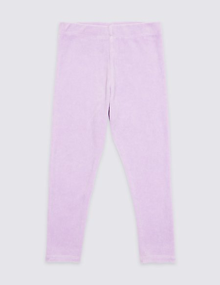 Cotton Rich Velour Jeggings (3 Months - 7 Years)