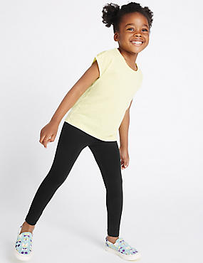 Cotton with Stretch Leggings with StayNEW™ (3 Months - 5 Years)