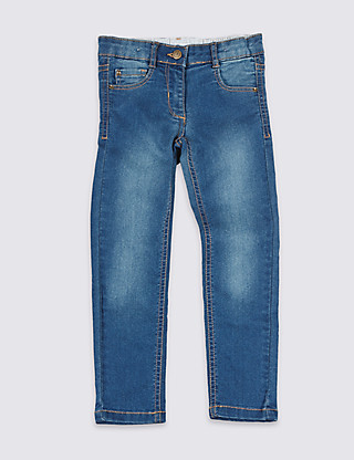 Cotton Rich with Stretch Skinny Denim Jeans (1-7 Years) Clothing