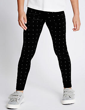 Velvet Spotted Leggings (1-7 Years)