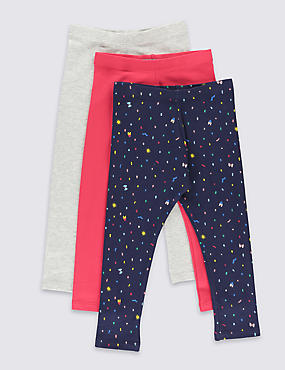 3 Pack Ditsy Leggings (3 Months - 5 Years)