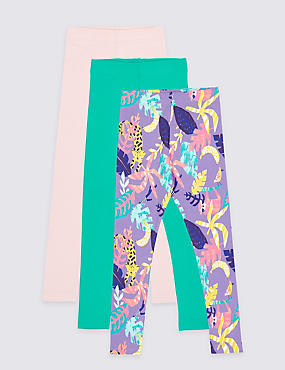 3 Pack Leggings with Stretch (3 Months - 7 Years), MULTI, catlanding