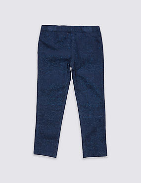 Cotton Sparkle Trousers with Stretch (3 Months - 6 Years)