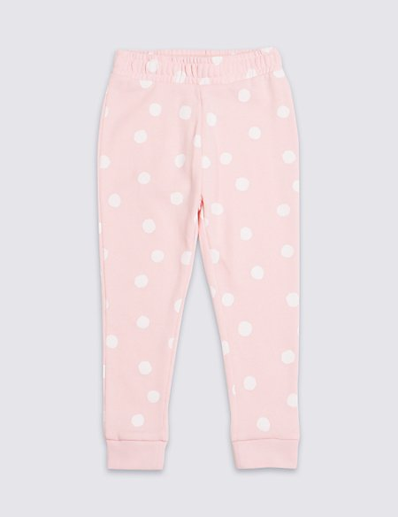Cotton Rich Spotted Joggers (3 Months - 7 Years)