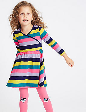 Pure Cotton Striped Dress (3 Months - 7 Years), MULTI, catlanding