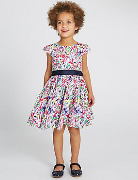 Pure Cotton Floral Dress (1-10 Years)