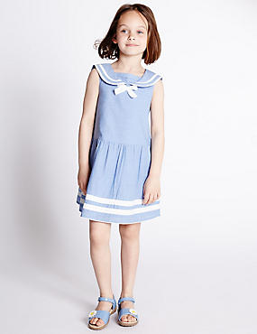 Pure Cotton Sailor Dress (1-7 Years)