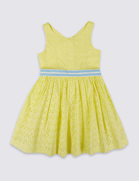 Pure Cotton Sleeveless Dress (1-10 Years)