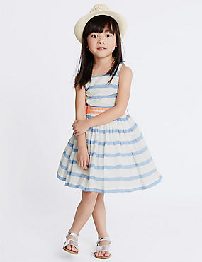 Cotton Rich Striped Dress (1-10 Years)